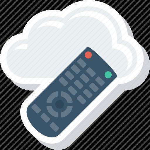 cloud, control, entertnment, remote icon