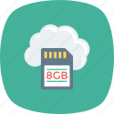 cloud, digital, memory, network, storage icon