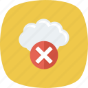 cloud, error, remove, stop icon