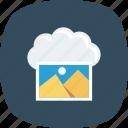 cloud, image, photo, storage icon