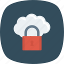 cloud, key, lock, security icon
