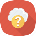 ask, cloud, faq, question icon