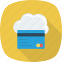 cloud, debit, online, with icon