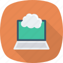 cloud, computing, laptop icon