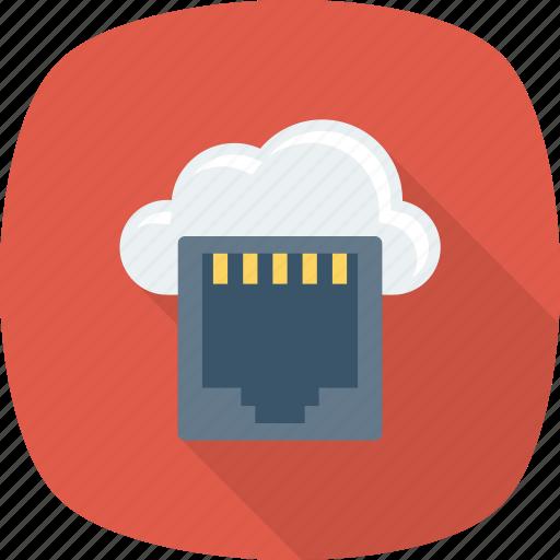 cloud, connecter, connector, dsl, lan, network icon