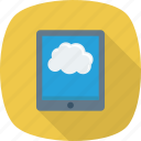 cloud, computer, ipad, tablet, technology icon