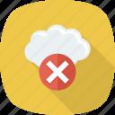 cloud, error, remove, stop icon