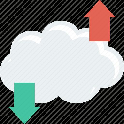 cloud, computing, download, upload icon