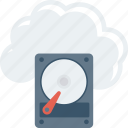 cloud, computing, data, file icon
