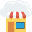 cloud, computing, online, shop, shopping icon