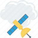 cloud, computing, satellite, sharing icon