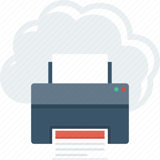 Cloud, facsimile, online, printer, printing icon - Download on Iconfinder