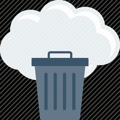 Bin, cloud, delete, dustbin, recycle, trash, trashcan icon - Download on Iconfinder