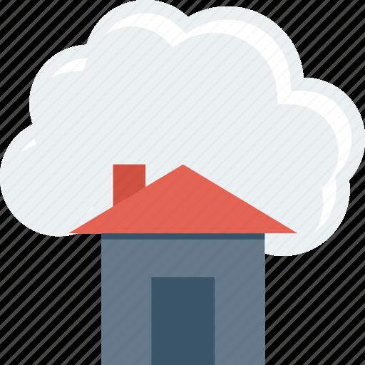 cloud, computing, home icon