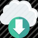 cloud, data, download, storage