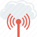 cloud, internet, signal, technolory icon