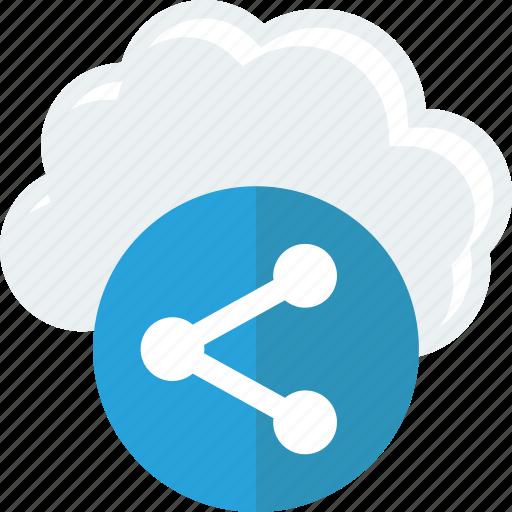cloud, send, share icon