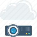 cloud, device, projection, projector icon