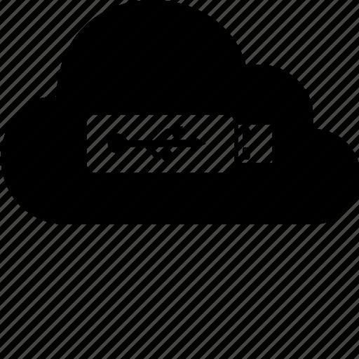 cloud, computer, computing, data, disk, flash, internet icon