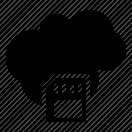 chip, cloud, database, server, storage icon