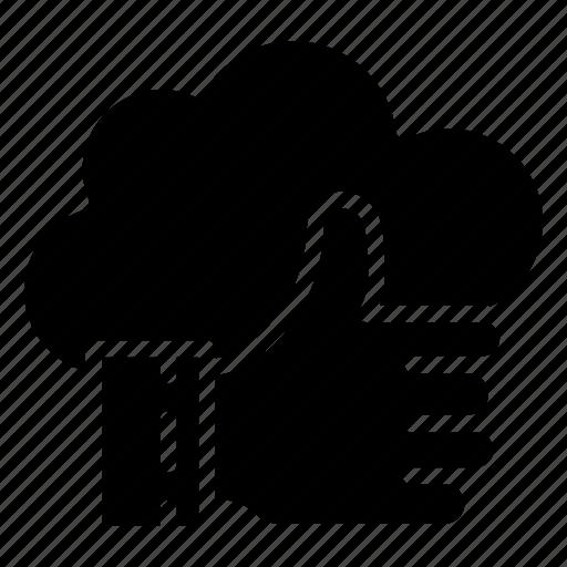 cloud, done, like, server, storage icon