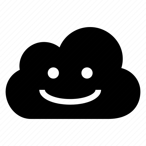 cloud, computing, emotion, face, happy, smile, weather icon
