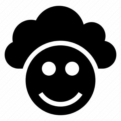 cloud, computing, face, halloween, smile, smily, weather icon
