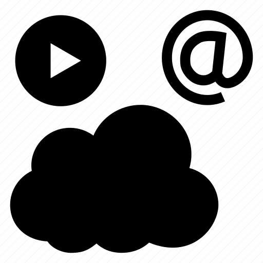 cloud, communication, computing, media, network, social, weather icon