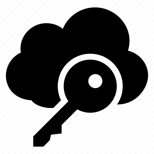 cloud, computing, key, password, secure, security, weather icon