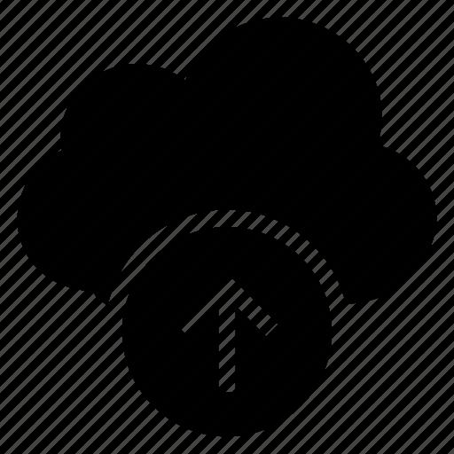 arrow, cloudcomputing, computing, fileupload, storage, upload, weather icon