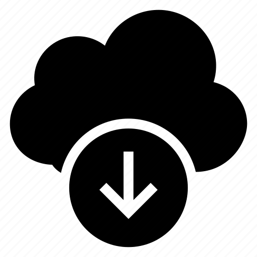 arrow, clouddownload, data, download, storage, weather icon