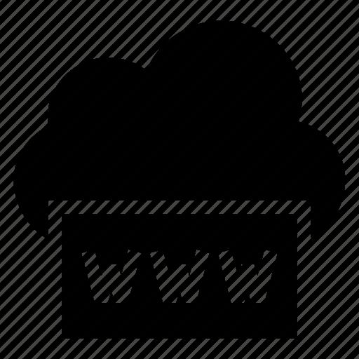 cloud, computing, internet, weather, web, website, www icon