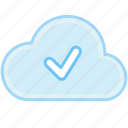 accept, check, check mark, cloud, done, internet, ok, success icon