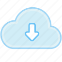 arrow, cloud, down, download, guardar, internet, save, web icon