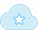 bookmark, cloud, favorite, favorites, like, mark, star icon