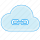 cloud, communication, internet, link, network, share, web icon