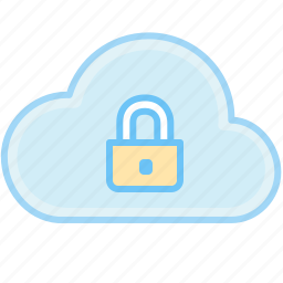 closed lock, cloud, lock, locked, password, private, protect, protection, safety, secure icon