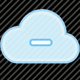 cancel, cloud, delete, minus, remove icon