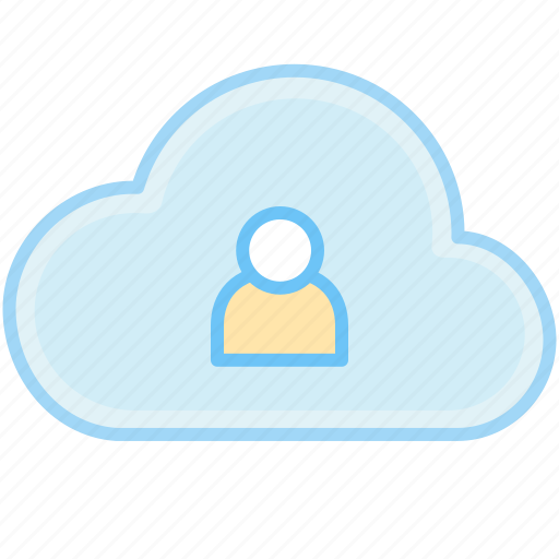account, avatar, cloud, human, people, person, profile, user, users icon
