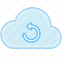 arrow, cloud, refresh, reload, repeat, update icon