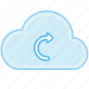 arrow, cloud, direction, next, right icon
