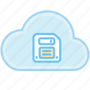 cloud, floppy disk, guardar, internet, save, web icon