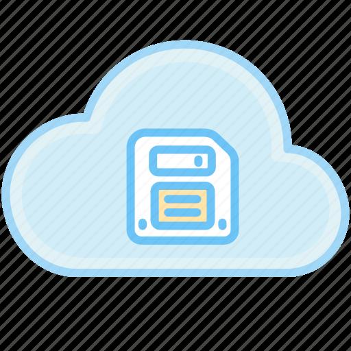 cloud, floppy disk, guardar, internet, save, web icon