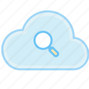 cloud, find, internet, search, web icon