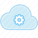 cloud, gear, set, set up, up icon