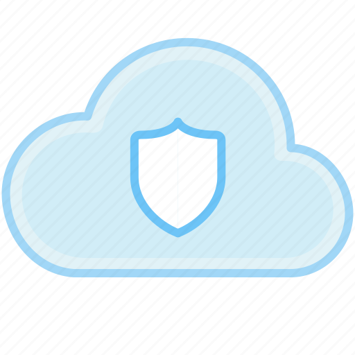 cloud, internet, protect, protect data, safe, security, shield, web icon