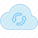 cloud, communication, connection, device, internet, sync, sync data, web icon