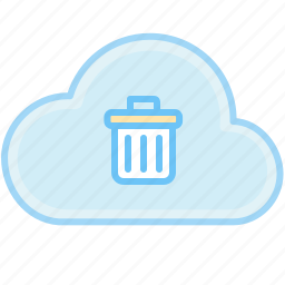 cancel, cloud, delete, delete data, internet, remove, trash, web icon
