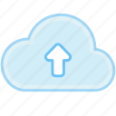 cloud, connection, internet, upload, web icon