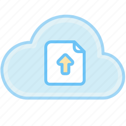 cloud, document, file, upload, upload document icon